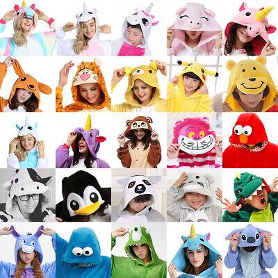 Erwachsene Pyjama Unisex Tier Onesie Kostüm Cosplay Einhorn Kigurumi Karneval DE