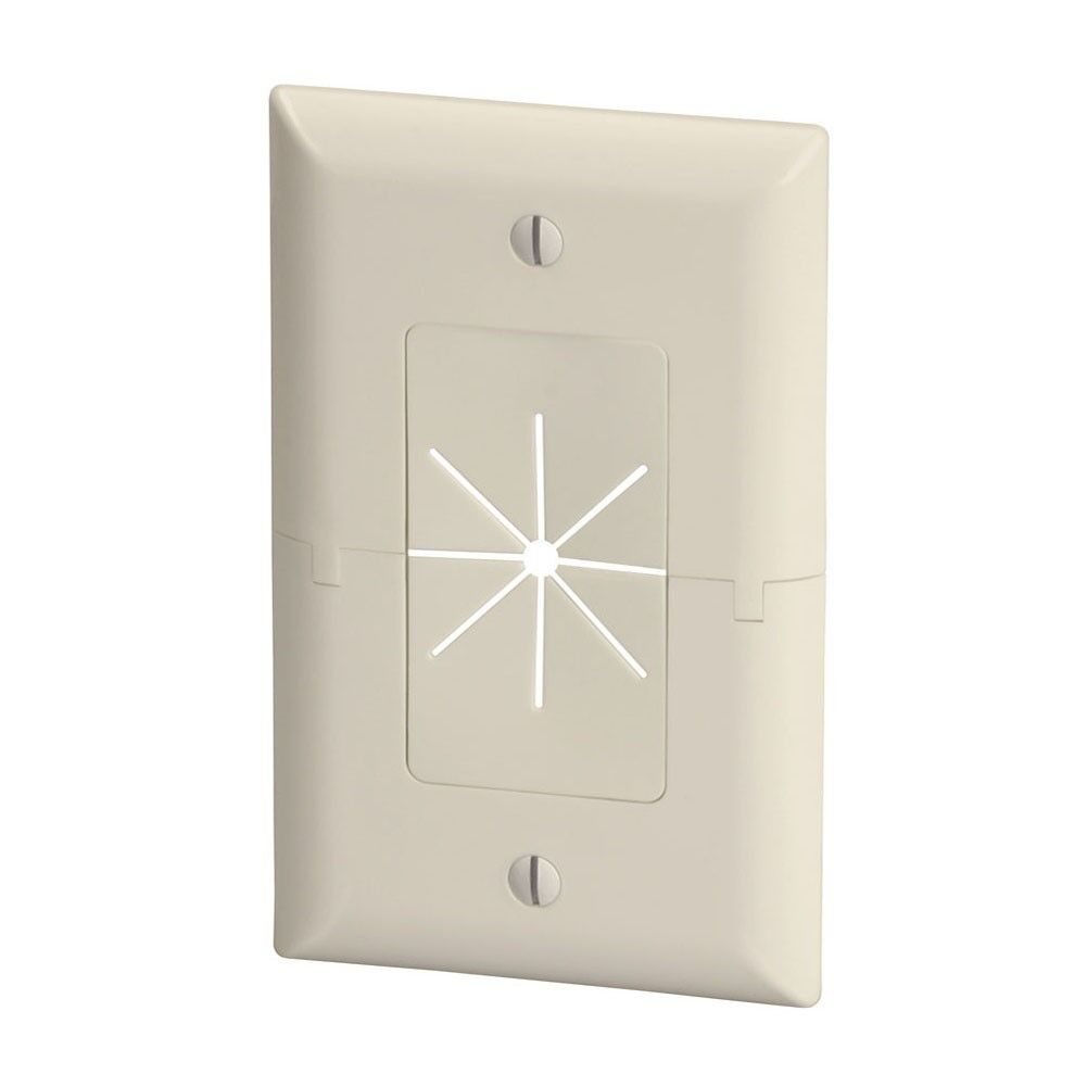 Superb 1 Gang Wall Plate Low Voltage Split Flexible Tv Av Cable Pass Wiring Digital Resources Nekoutcompassionincorg