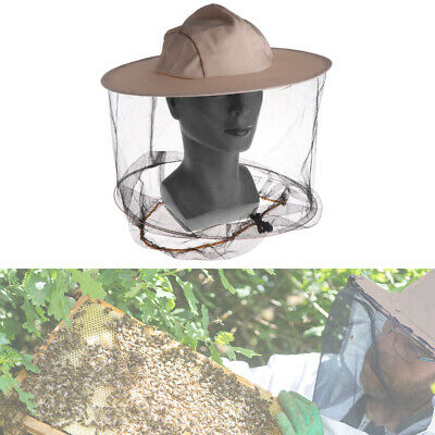 1pcs Beekeeping Cowboy Hat Mosquito Bee Insect Net Veil Cap Face Head Protector