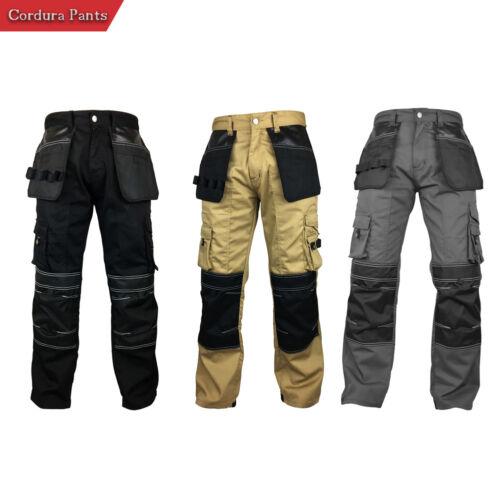 Mens Cargo Workwear Cordura Reinforcement Safety Utility Pant Mechanical Trouser