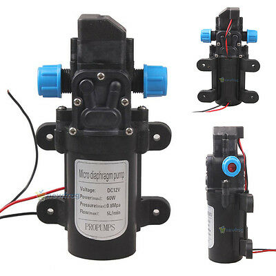 Dc 12v 60w Mini Micro Diaphragm High Pressure Water Pump Automatic Switch 5lmin
