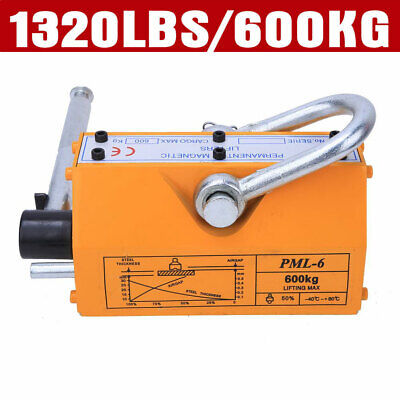 Top 600kg Steel Lifting Magnet Heavy Duty 1320lb Magnetic Lifter Hoist Crane New