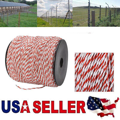 500m Wire Stainless Steel Conductive Rope Whitered Electric Livestock Fence