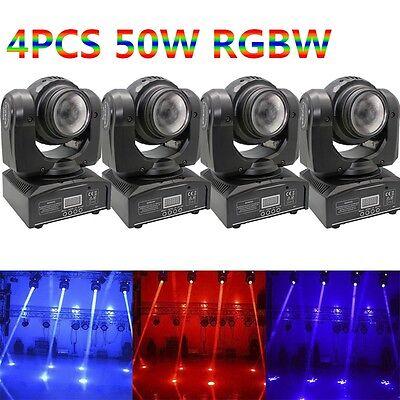 4PCS 50W Double Side Beam LED Moving Head Stage Lighting RGBW DMX DJ Disco Light ()