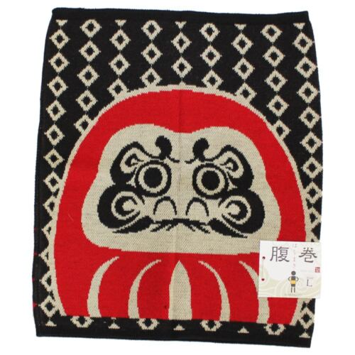 Kaya Japanese Haramaki Stomach/Body Warmer Belt Daruma Doll Design