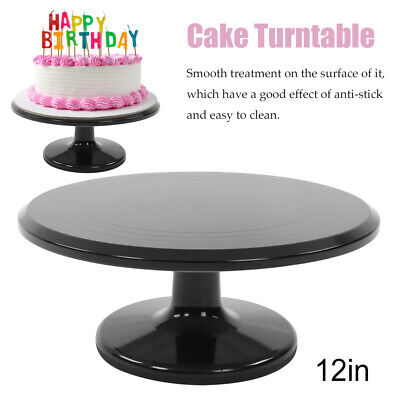 12 in Anti-stick Cake Turntable Rotating Decor Stand Pastry Kitchen Baking Tray](Cake Decorating Sticks)