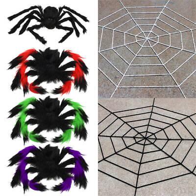 Riesen Spinne Tarantula Plüsch Spinnennetz Halloween Net Deko Geisterhaus Horror