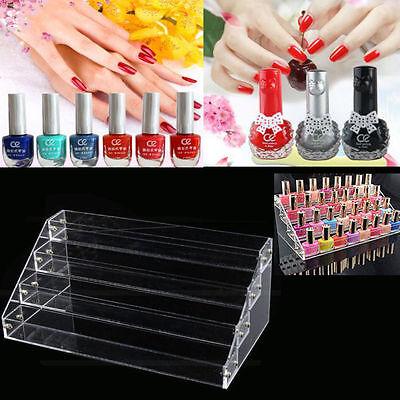 4 Tier Makeup Nail Polish Display Stand Organizer Holder Rack Clear Acrylic Box