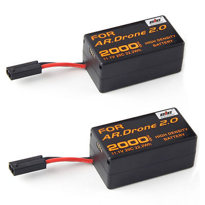 2x 2000mAh 11.1V Powerful Rechargeable Battery For Parrot AR.Drone2.0 Quadcopter
