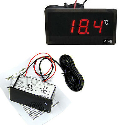 Car Auto Mini Digital LCD Display Indoor Outdoor Temperature Meter Thermometer ℃