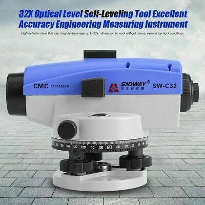 High Precision 32x Dumpy Level Auto Level Optical Level- Surveying Tool Kit