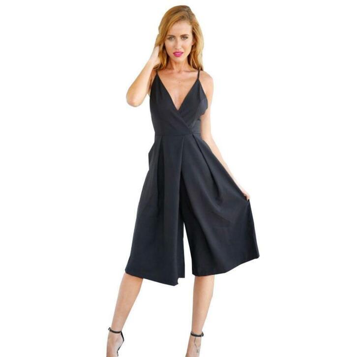 rompertjes womens zwart linnen katoen jumpsuit backless xl | 2ememain.be