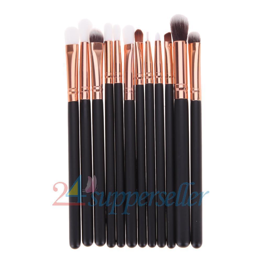 New 12Pcs Brushes Set Makeup Cosmetic Powder Foundation Eyeshadow Lip Brush Tool