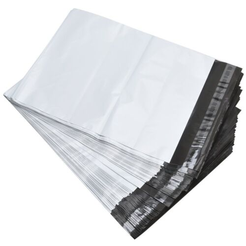 500 9x12 White Poly Mailers Self Sealing Shipping Envelopes Plastic Bags 2.5 Mil