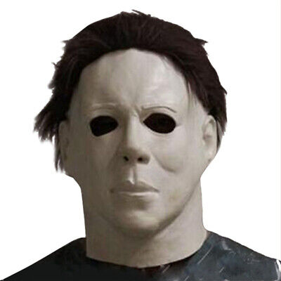Horror Halloween Michael Myers Killer Cosplay Scary Latex Costume Party