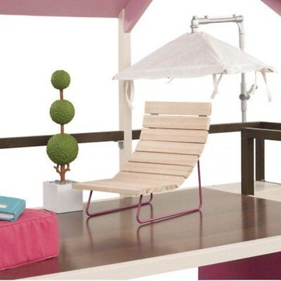 NEW w/box Our Generation Home Dollhouse Furniture Patio Lounger & Umbrella Set