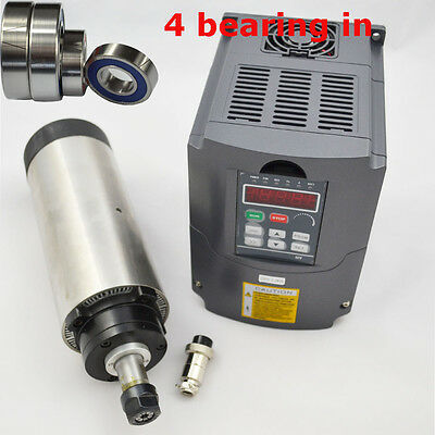 Four Bearings 2.2kw Air Cooled Spindle Motor Er20 80mm Diameter Inverter Drive