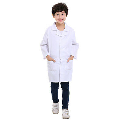 TopTie 5 Pack Kid White Lab Coat Long Sleeve Child Doctor Role Play Costume Bulk (Childrens Lab Coat)