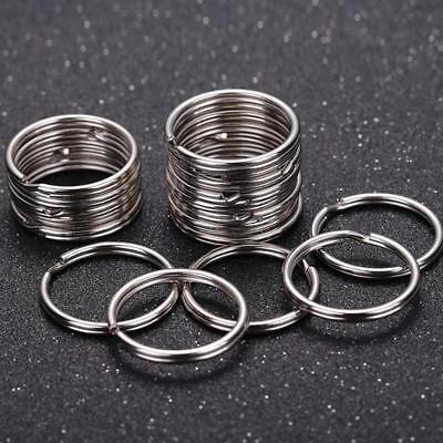 10Pc 25mm Keyring Blanks Nickel plating Keychain Key Fob Split_Ring
