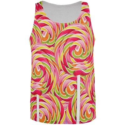 Swirl Giant Lollipop All Over Adult Tank Top
