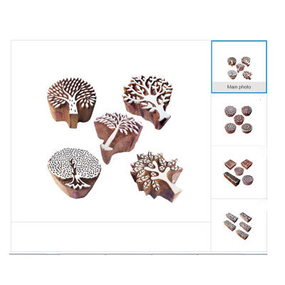 Fabric Stamp - Nature Wooden Block Stamps for Printing on Fabric Textile Paper Clay Pottery