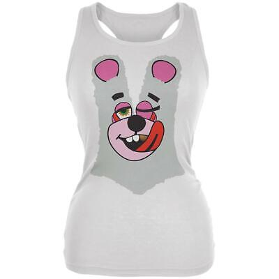 Halloween Twerk Bear White Costume Inspired by Miley Cyrus Juniors Soft Tank - Miley Cyrus Halloween Dress Up