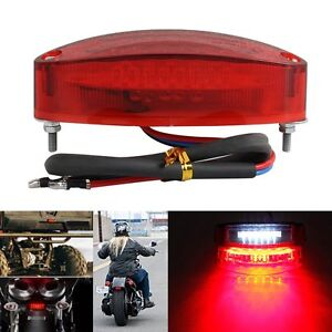 Motorcycle 28 Led Rear Brake Stop Tail Light License Number Plate Lamp Light US