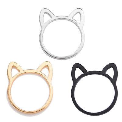 Fashion Charm Cat Ear Shape Cute Alloy Finger Ring Jewelry for Women Ladies (Ear Shape)