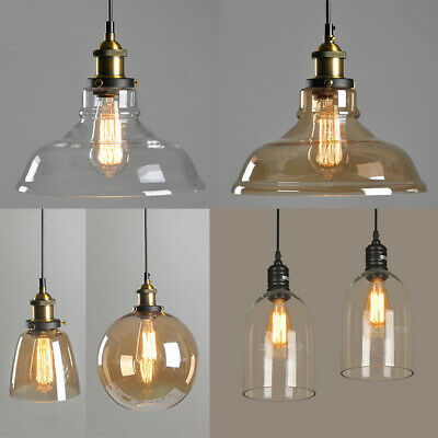 Modern Vintage Ceiling Light Pendant Chandelier Industrial Loft Glass Lamp Shade