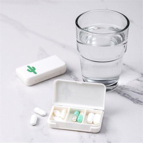 Mini 3 Grid Pill Medicine Box Holder Storage Organizer Container Case Travel