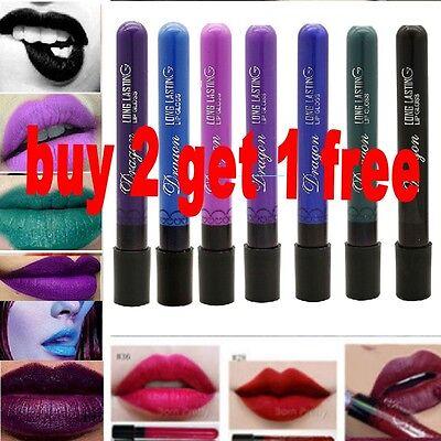 Long Lasting Gothic Lip Liquid Pencil Matte Lipstick Makeup Waterproof Lip Gloss