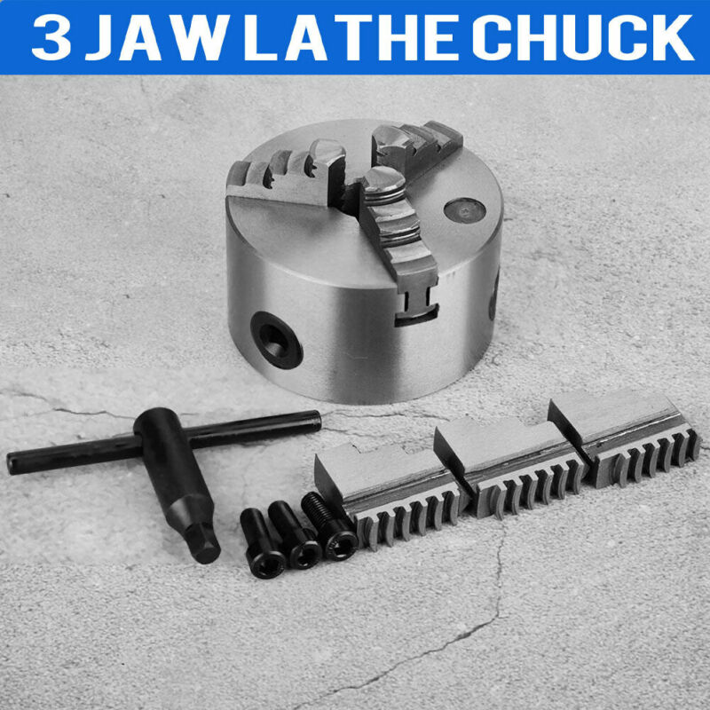 Self-Centering Lathe Chuck 3 Jaw 4 inch 100mm for Milling K11-100 Hardened Steel