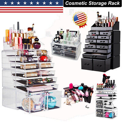 Acrylic Makeup Organizer Case Drawers Jewelry Cosmetic Storage Rack Display Box