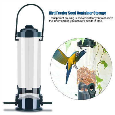 Durable Hanging Wild Bird Feeder Seed Container Hanger Garden Outdoor Feeding