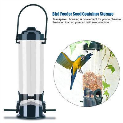 Durable Hanging Wild Bird Feeder Seed Container Hanger Garden Outdoor Feeding