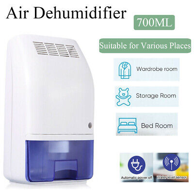 Quite Electric Air Dehumidifier Moisture Absorber 700ml Water Tank Home Office
