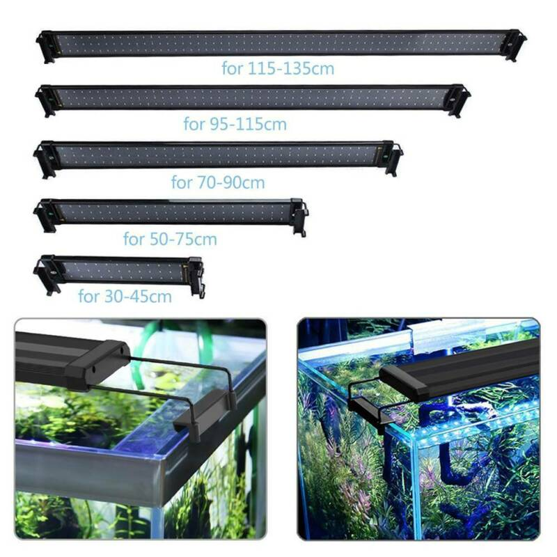 VARMHUS Aquarium Abdeckung Beleuchtung LED Flexibel Klemmleuchte Lampe