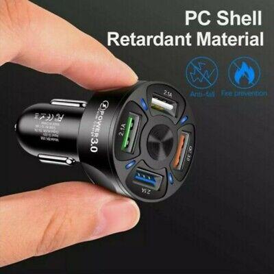 Carga Rápida Coche Rápido Cargador 4 Puerto USB Dual Adaptador Enchufe for...