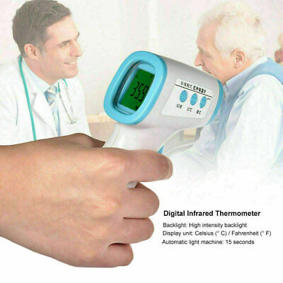 Lcd Digital Non-contact Infrared Ear Forehead Thermometer Ir Gun Body Adult Baby