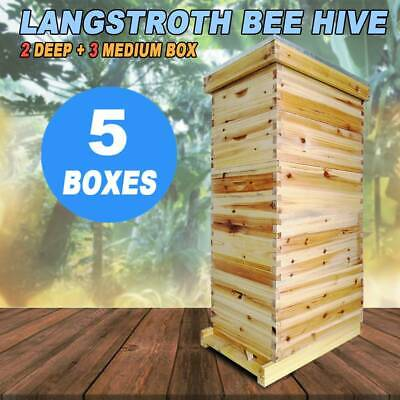 10-frame Size 5 Box Beehive Frames Bee Hive Frame Bee House For Beekeeping Us