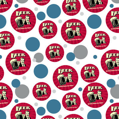 Beer You Better Believe Size Matters Funny Premium Gift Wrap Wrapping Paper