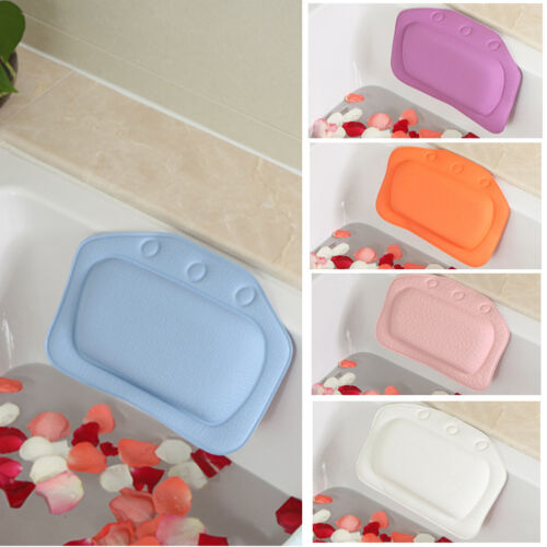 Home Relaxing Cushioned Bath Spa Pillow Head Neck Rest Batht