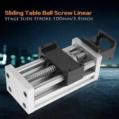 4in100mm Manual Sliding Table Sfu1605 Ball Screw Linear Stage Cnc Slide Stroke