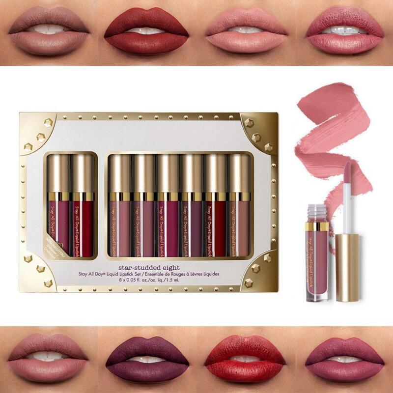 Make-up Mattlippglanz-Satz-flüssige Wasserdichte Lippenstift-Kosmetik 8pcs / Set