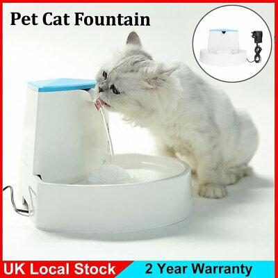 CAT MATE PET FOUNTAIN WATER BOWL KITTEN CAT PUPPY SMALL DOG UK PLUG
