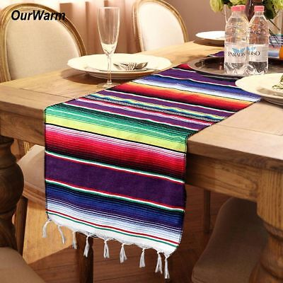 10x Mexican Serape Striped Table Runner for Wedding Birthday Fiesta Themed Party](Themes For Birthdays)
