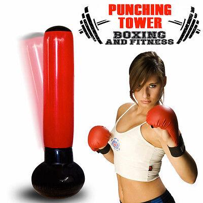 Sacco Gonfiabile Boxing Torre Jumbo Box Punching Soft Tower Karate Fitboxe 160cm