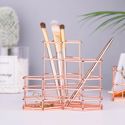 Metal Pencil Pen Cup Holder Desk Organizer Desktop Storage Office Supplies New