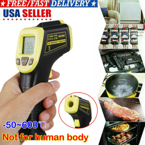 Digital Thermometer Infrared Temperature Gun Non-Contact Laser -58℉ To 1112℉ US