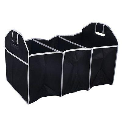 2-in-1 Foldable Storage Car Boot Organiser Shopping Tidy Heavy Duty JT